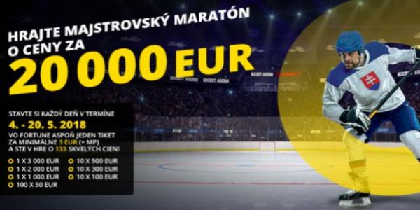 c6c1b428864d1 Fortuna vyžrebovala výhercov Majstrovského Maratónu. Kto získal €3,000?